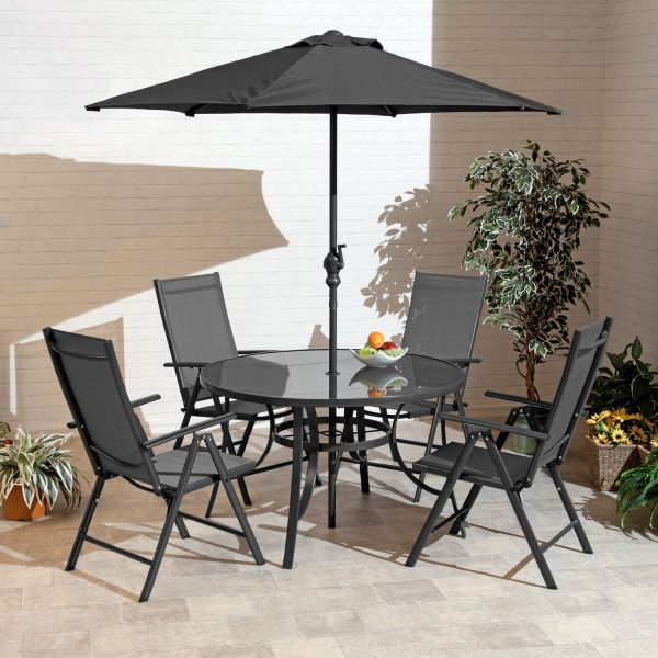 1.2m Santos Aluminium 4 Seat Outdoor Dining Set
