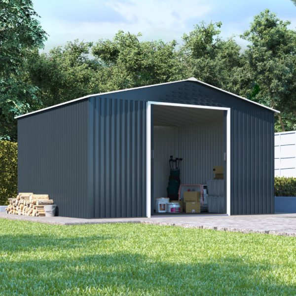 10x8 BillyOh Partner Top Shed Apex Roof Metal Shed - Anthracite