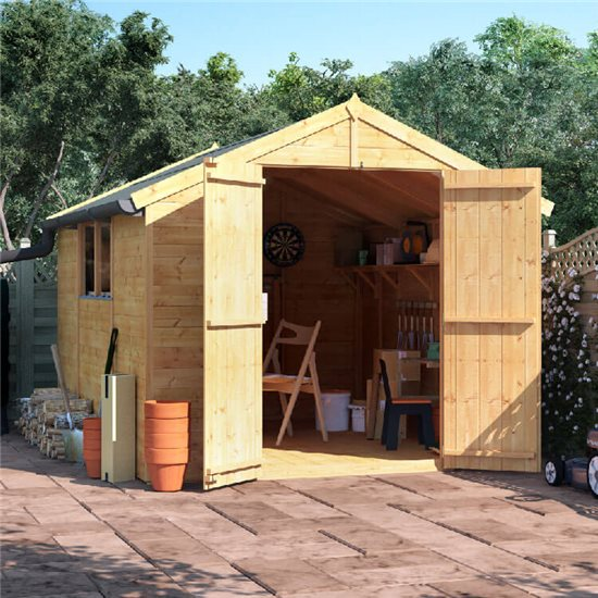 10x8 T&G Apex Shed - BillyOh Master Windowed