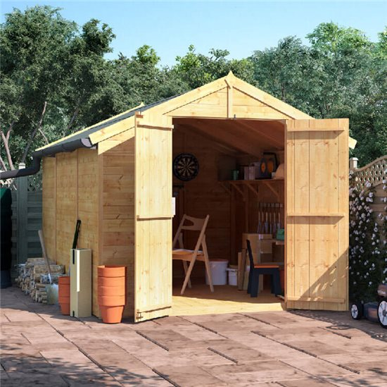 10x8 T&G Apex Shed - BillyOh Master Windowless