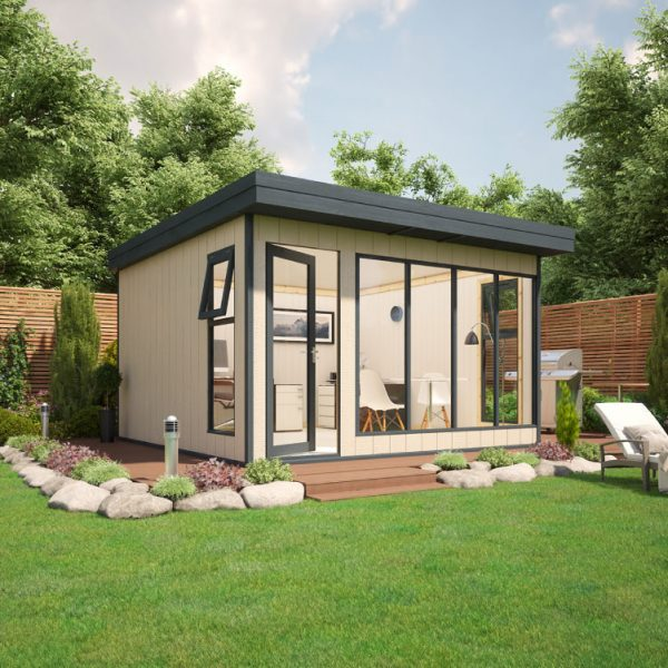 12x12 9mm Composite Timber Cladding Pent Shed - Evolution Insulated Composite Garden Office