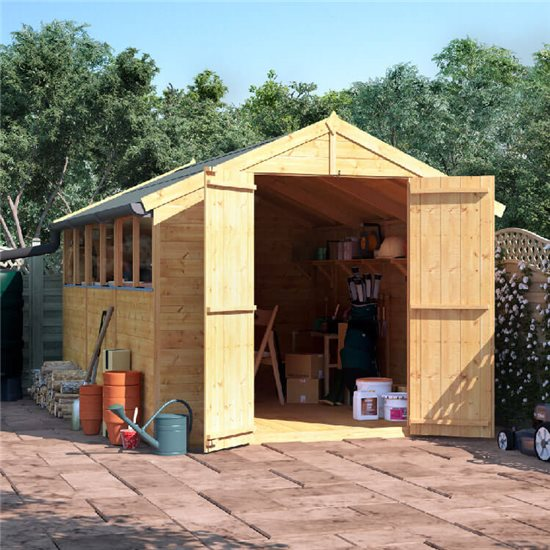 12x8 T&G Apex Shed - BillyOh Master Windowed