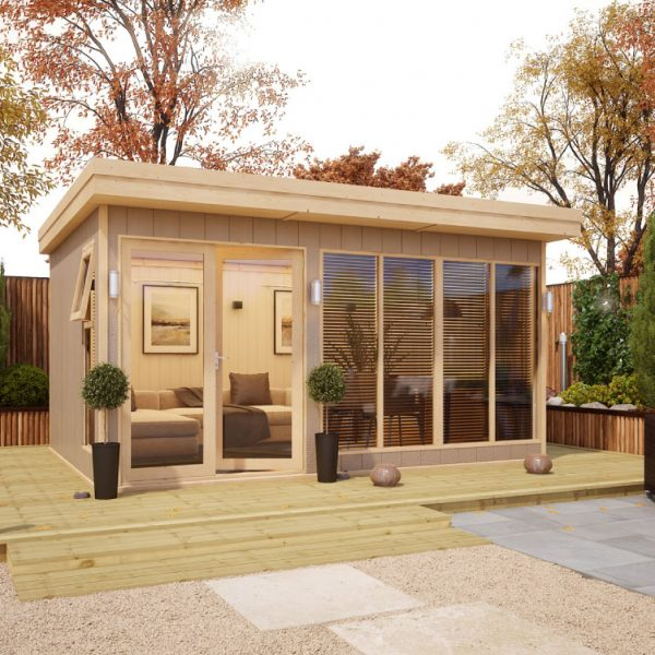 14x10 Shed - Evolution Insulated Composite Offset Door Garden Office