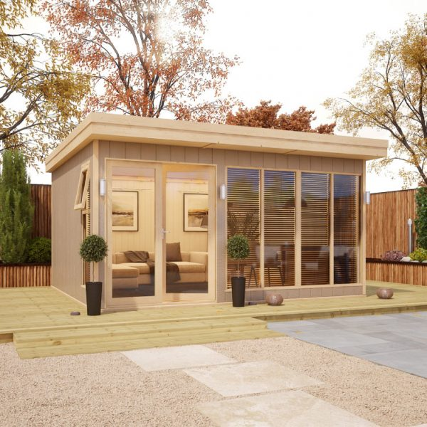 14x12 Shed - Evolution Insulated Composite Offset Door Garden Office