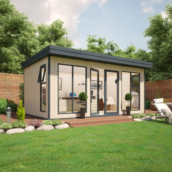 16x10 9mm Composite Timber Cladding Pent Shed - Evolution Insulated Composite Garden Office