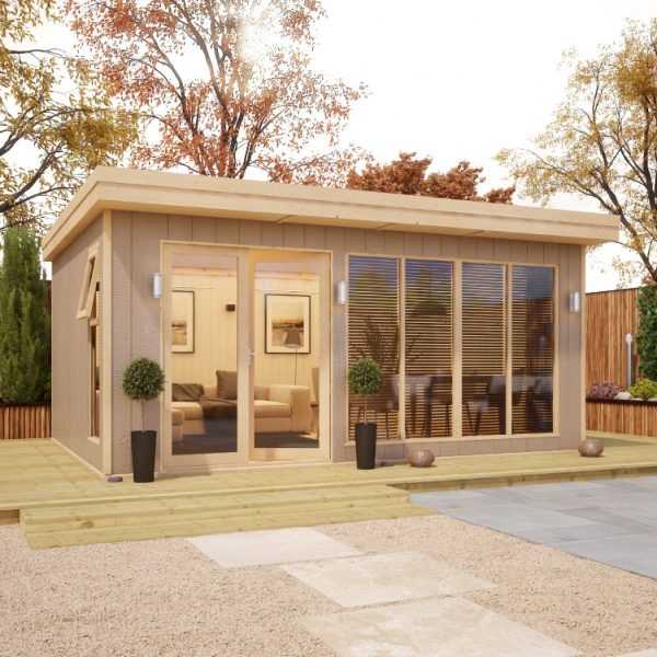 16x12 Shed - Evolution Insulated Composite Offset Door Garden Office