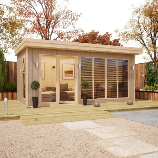 16x8 Shed - Evolution Insulated Composite Offset Door Garden Office