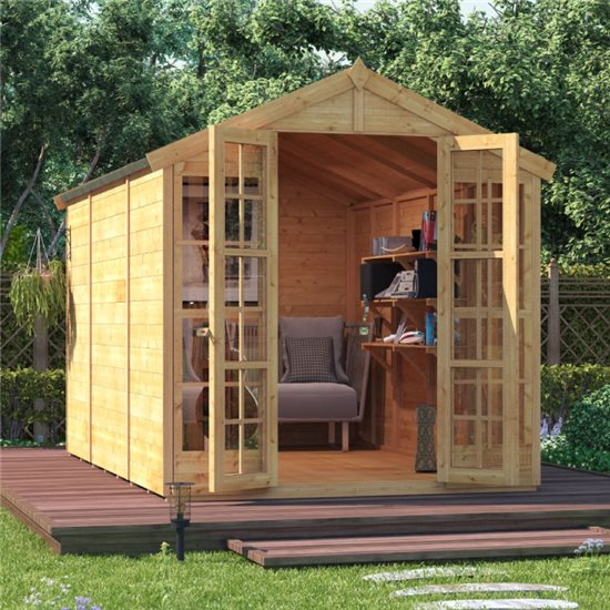BillyOh Harper Tongue and Groove Apex Summerhouse - 10x6 T&G Apex Summerhouse