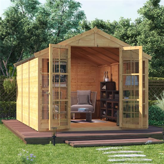 BillyOh Harper Tongue and Groove Apex Summerhouse - 12x8 T&G Apex Summerhouse