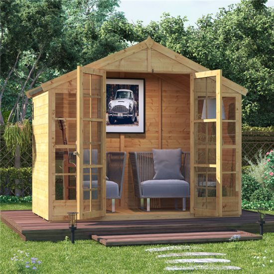 BillyOh Harper Tongue and Groove Apex Summerhouse - 4x8 T&G Apex Summerhouse