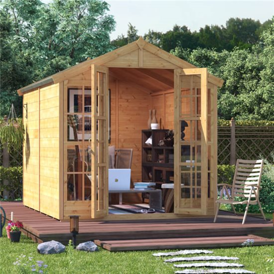 BillyOh Harper Tongue and Groove Apex Summerhouse - 8x6 T&G Apex Summerhouse
