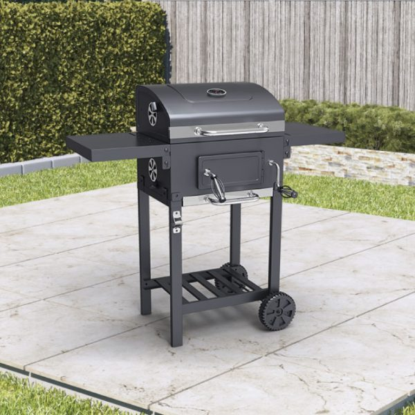 BillyOh Kentucky Smoker BBQ Charcoal Grill Outdoor Barbecue with Shelves 102x104.5x70cm - Smoker Charcoal BBQ