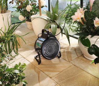 Bio Green Palma 2kw Greenhouse Heater with Standard Thermostat