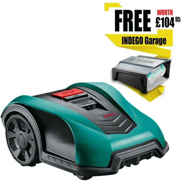Bosch INDEGO 400 18v Cordless Robotic Lawnmower 190mm 1 x 2.5ah Integrated Li-ion Charger