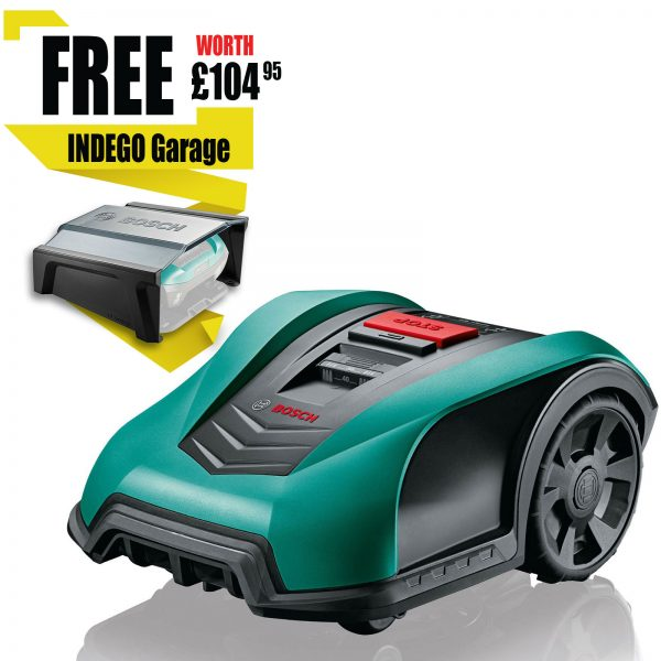 Bosch INDEGO 400 CONNECT 18v Cordless Robotic Lawnmower 190mm 1 x 2.5ah Integrated Li-ion Charger