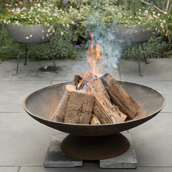 Cast iron disc fire pit small
