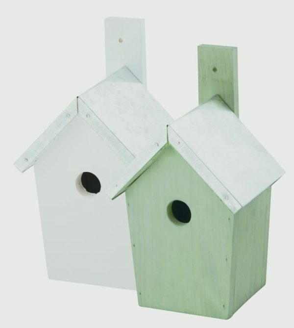 Chapelwood Coloured Nest Boxes - Green/White - Mixed Pack