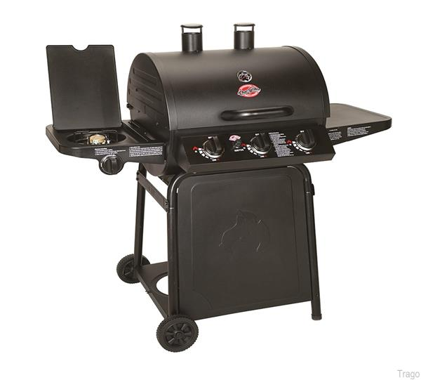 Char-Griller Grillin' Pro Gas Barbecue with Side Burner