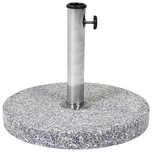 Charles Bentley 15kg Round Granite Parasol Parasol Umbrella Base