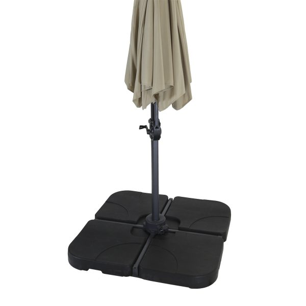Charles Bentley 4 Piece Parasol Base - Black