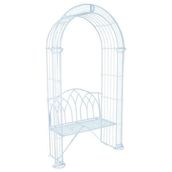Charles Bentley Garden Arch and Bench - Pastel Blue