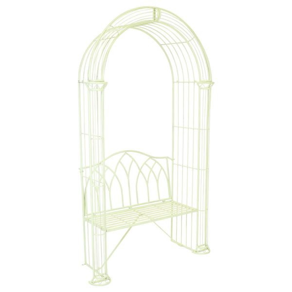 Charles Bentley Garden Arch and Bench - Pastel Green