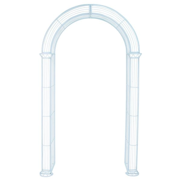 Charles Bentley Wrought Iron Garden Arch - Pastel Blue