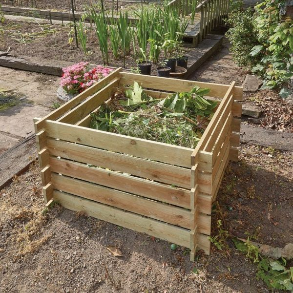 Compost box - FSC timber 100x100x61