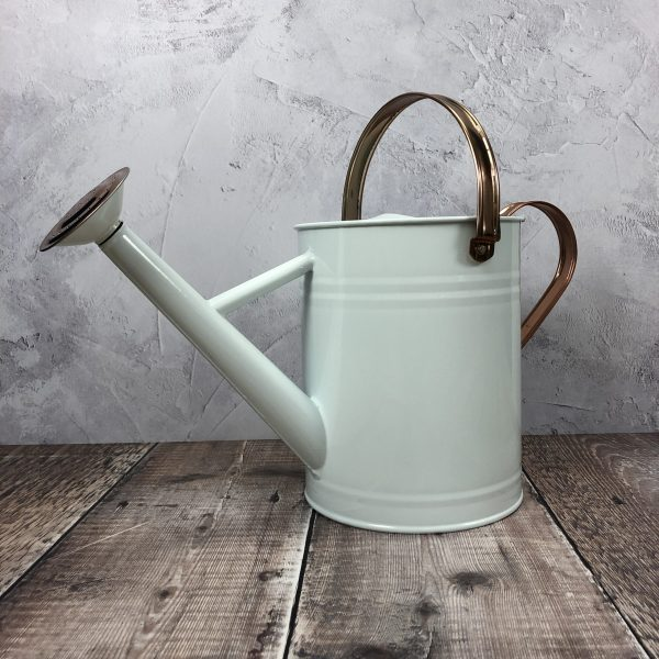Cream & Copper Metal Watering Can (3.5 Litre)