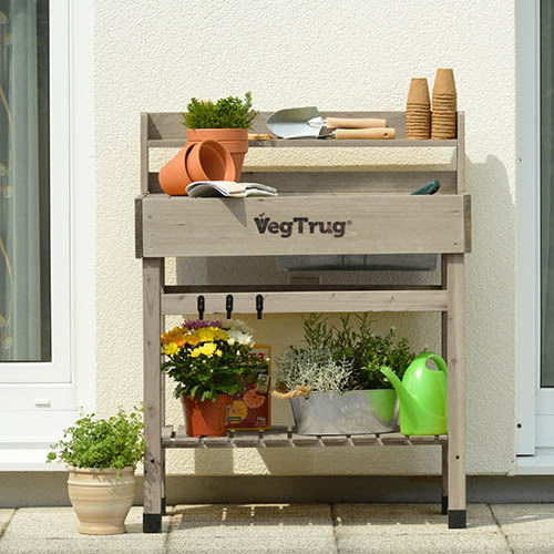 Deluxe Potting Bench - Grey Wash (FSC 100%)