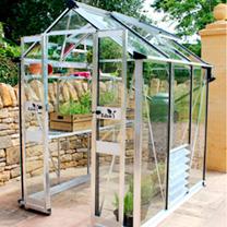 Eden Birdlip 46 Green Greenhouse - Aluminium