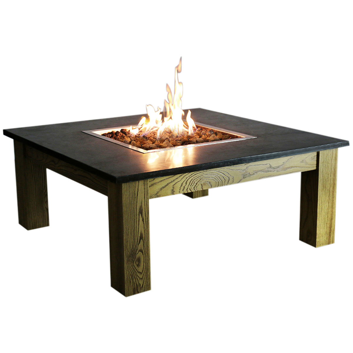 Picture of: Elementi Amish Coffee Table Fire Pit