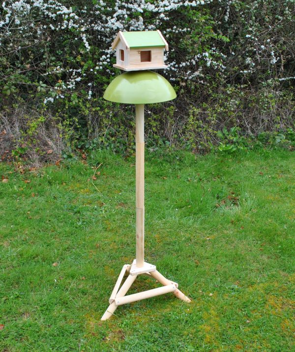 Factory Second - Squirrel and Pigeon Proof Bird Table with Metal Baffle and Ground Spikes