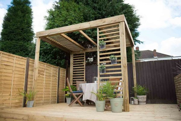 Forest Dining Pergola - With Panels