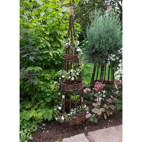 Forest Forest 1.2m Concentric Willow Obelisk 2 Pack