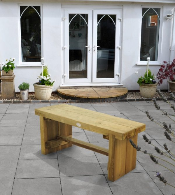 Forest Garden Double Sleeper Bench 1.2m