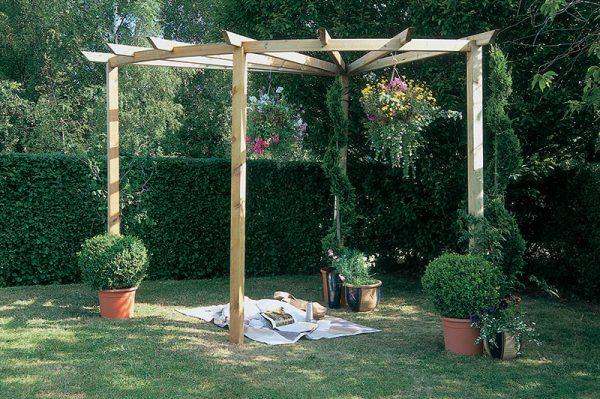Forest Garden Radial Pergola 90