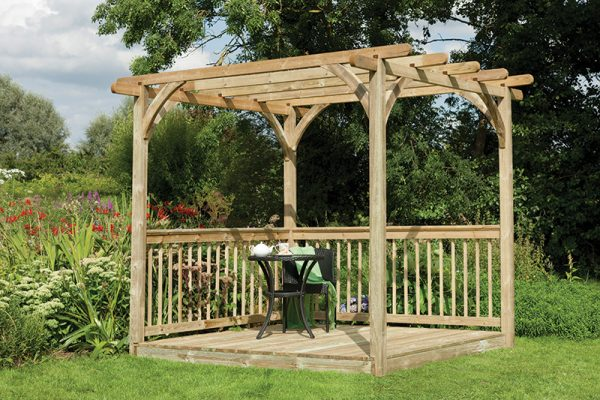 Forest Ultima Pergola and Decking Kit - 2.4 x 2.4m