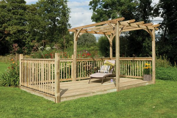 Forest Ultima Pergola and Patio Decking Kit - 2.4 x 4.9m