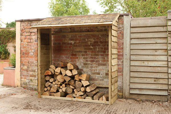 Forest Wall Log Store - 6ft x 6.4ft