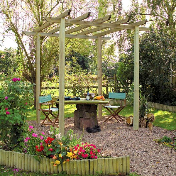 Grange Fencing Traditional Garden Pergola - Pale Green