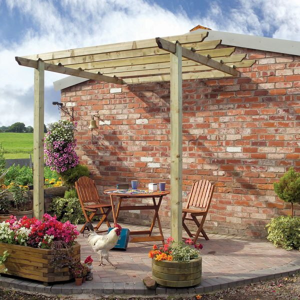 Grange Fencing Traditional Patio Pergola With Posts