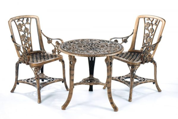 Greenhurst 3-pc Rose Arm Chair Patio Set Bronze