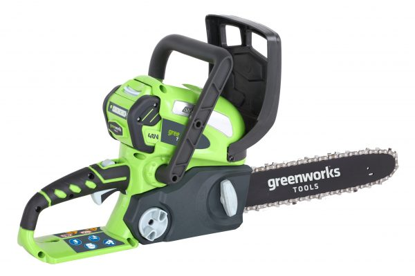 "Greenworks G40CS30K2 40v 30cm (12"") Chainsaw with 2Ah battery and charger"