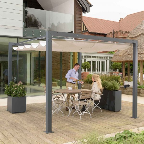 Harrod Contemporary Pergola With Retractable Awning