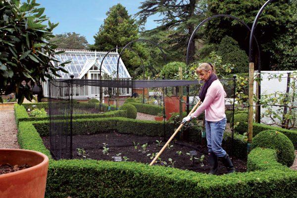 Harrod Vintage Fruit & Vegetable Cage 1.5m High - Matt Black