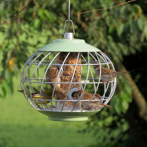 Helix Seed Bird Feeder - Celadon Green