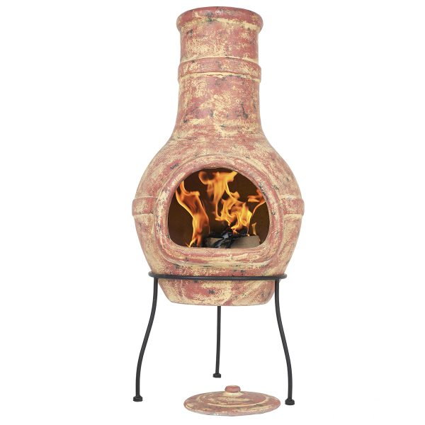 La Hacienda Banded Large Chimenea - Copper effect