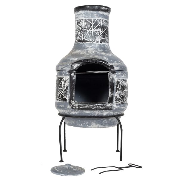 La Hacienda Linea Medium Chimenea - Grey