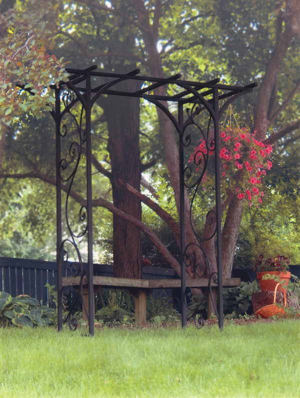 Panacea Garden Arch with Vines (Black)